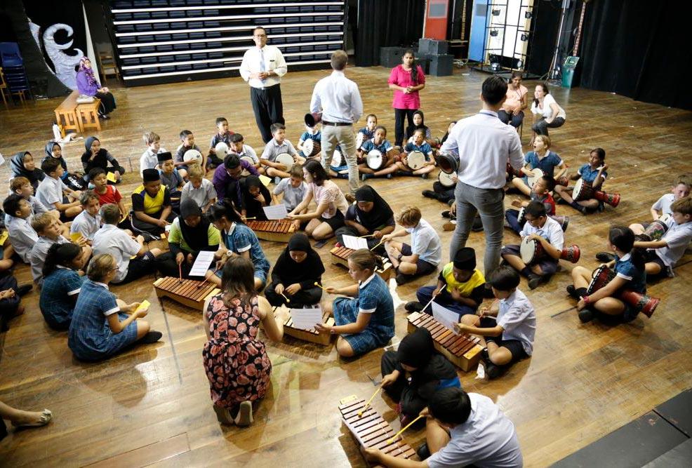 Creative music workshop with Sungai Melayu School
