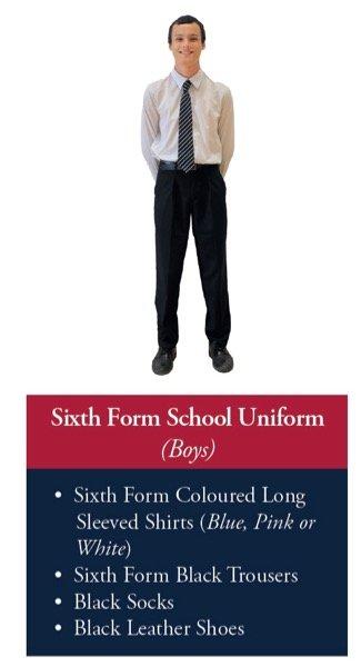 Sixth Form Uniform (Boys)